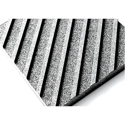 Тактильная гранитная плитка (диагональный риф)