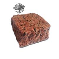 Пилено-колотая гранитная брусчатка Лезниковское месторождение (верх термо)