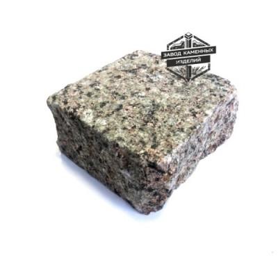 Пилено-колотая гранитная брусчатка Васильевское месторождение (верх термо)